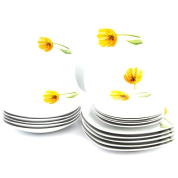 Domestic 18-dielna jedálenská súprava Tulip