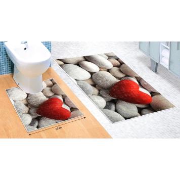 Bellatex Sada kúpeľňových predložiek Svetlé kamene 3D