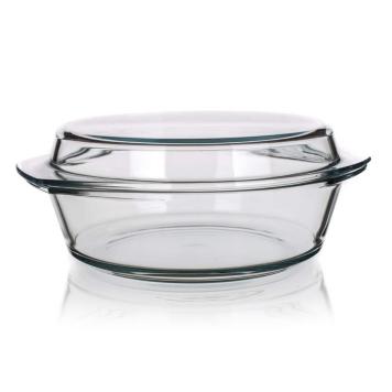 SIMAX Pekáč sklenený okrúhly s vekom 3